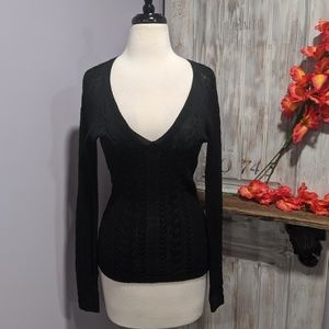 The Limited black v-neck thin sweater